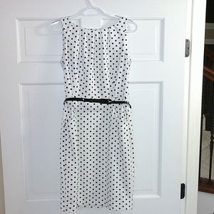 Size 6 polka dot white Cocktail dress.